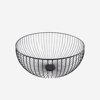 Point-Virgule Wire basket black ø 30cm H 13cm