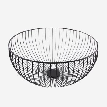 Point-Virgule Wire basket black ø 35cm H 15cm