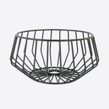 Point-Virgule Wire low fruit basket black 27x13.8cm