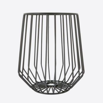 Point-Virgule Wire high fruit basket black 23.4x25.4cm