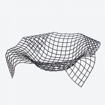 Point-Virgule Wire Envelope basket black 34x34x8.5cm