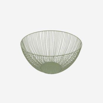 Point-Virgule Wire basket sage green ø 25cm H 14cm