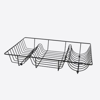 Point-Virgule Wire dish rack black 49x32x8.5cm