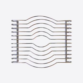 Point-Virgule chrome trivet 29x25x3.5cm