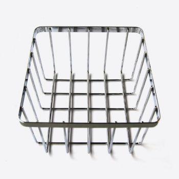 Point-Virgule chrome bread basket 20.5x20.5x13cm