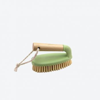 Point-Virgule bamboo and recycled plastic scrubbing brush with handle 14.5x7x9.5cm
