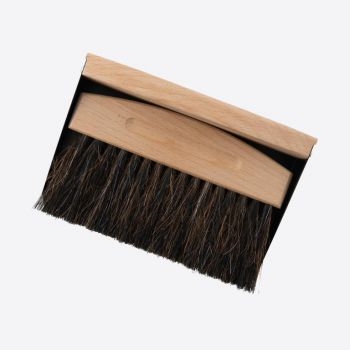 Point-Virgule bamboo and horsehair table brush with iron dustpan black 15.5x10.7x4cm