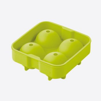 Point-Virgule silicone ice ball mold for 4 balls green ø 6cm