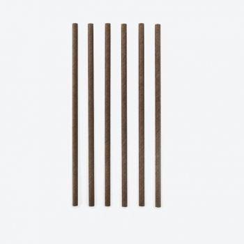 Point-Virgule set of 48 paper drinking straws black 19.5cm