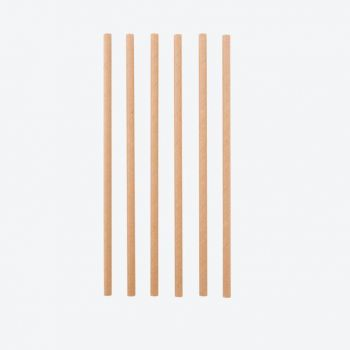 Point-Virgule set of 48 paper drinking straws brown 19.5cm