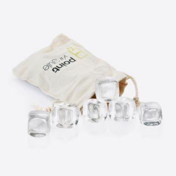 Point-Virgule set of 6 crystalstones with satchel (12pcs/disp.)