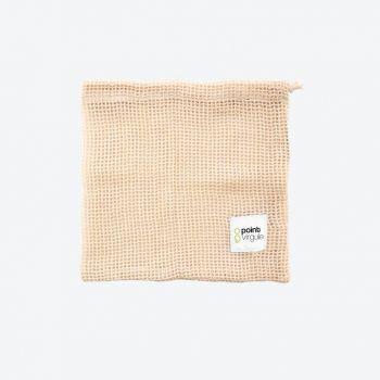 Point-Virgule reusable cotton mesh bag for vegetables and fruit 25x20cm (20pcs/disp.)