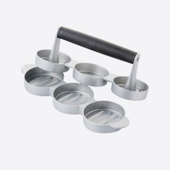 Point-Virgule mini hamburger press for 3 burgers ø 6.8cm