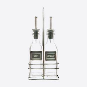 Point-Virgule glass oil and vinegar rack set 2x150ml