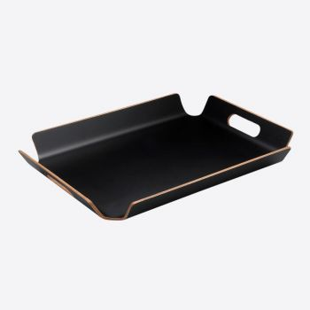 Point-Virgule frame tray with handles black 55x40x5cm
