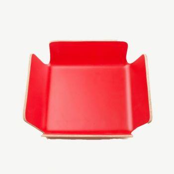Point-Virgule bread basket red 29x29x8cm
