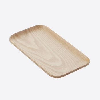 Point-Virgule rectangular serving tray colour of wood 22x12cm