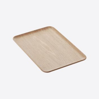 Point-Virgule rectangular serving tray colour of wood 33x23cm