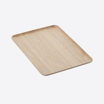 Point-Virgule rectangular serving tray colour of wood 39x27cm