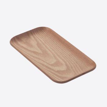 Point-Virgule rectangular serving tray walnut 22x12cm