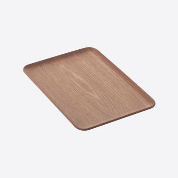 Point-Virgule rectangular serving tray walnut 33x23cm