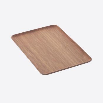 Point-Virgule rectangular serving tray walnut 39x27cm