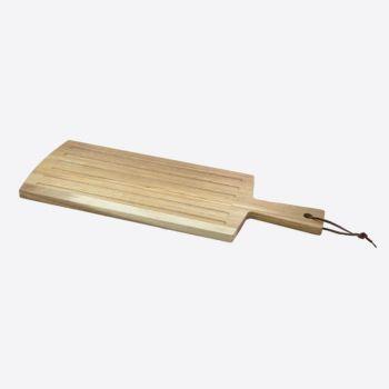 Point-Virgule acacia wood bread cutting board with handle 50x19x1.5cm