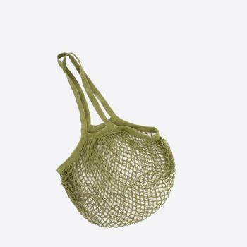 Point-Virgule Parisian netbag with long handles kaki 33x45cm