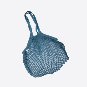 Point-Virgule Parisian netbag with long handles dark blue 33x45cm