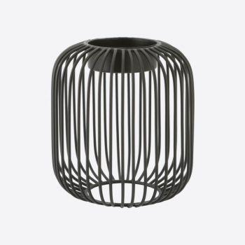Point-Virgule Wire tealight holder black ø 13cm H 14cm