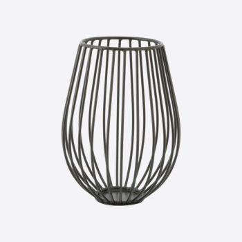 Point-Virgule Wire candle holder black ø 14cm H 18cm
