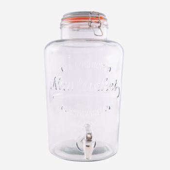 Point-Virgule round drinks dispenser with plastic tap 8L (per 4pcs)