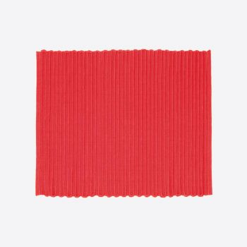 Point-Virgule ribbed placemat red 35x45cm (per 28pcs)