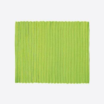 Point-Virgule ribbed placemat green 35x45cm (per 28pcs)