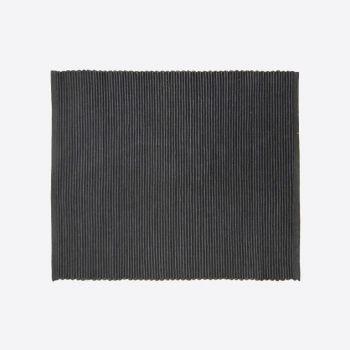 Point-Virgule ribbed placemat black 35x45cm (per 28pcs)