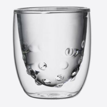 QDO Elements set of 2 double-walled glasses Water 75ml