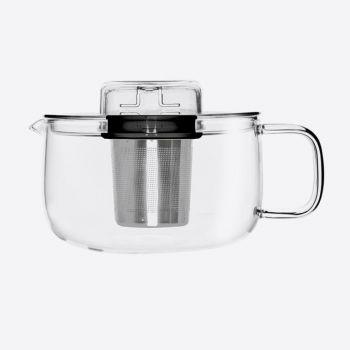 QDO Me Pot tea pot in glass with infuser black 500ml