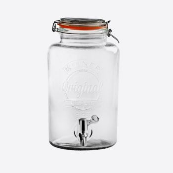 Kilner round drinks dispenser with tap 5L (per 2pcs)