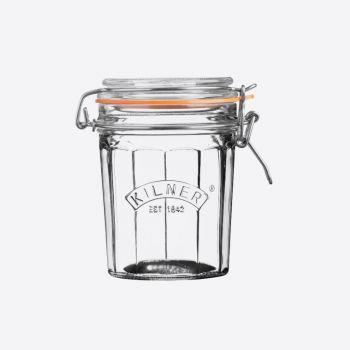 Kilner faceted glass clip top jar 450ml