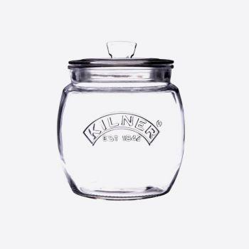 Kilner universal glass Storage jar with push top lid 850ml