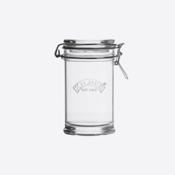 Kilner Signature round glass clip top jar grey 750ml