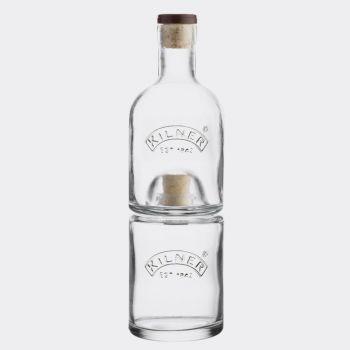Kilner stackable glass oil and vinegar set 330ml - 350ml