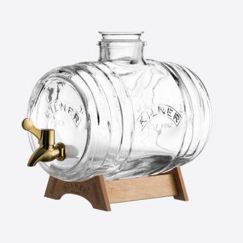 Kilner drinks dispenser Barrel with messing coloured tap 3.5L