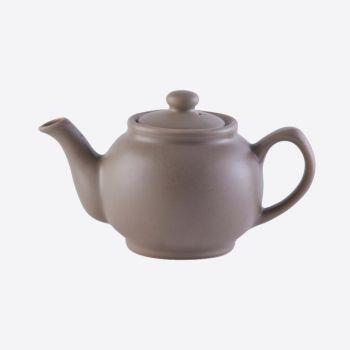 Price & Kensington ceramic 2-cup teapot matt taupe 450ml