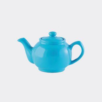 Price & Kensington glossy ceramic 2-cup teapot blue 450ml (per 3pcs)
