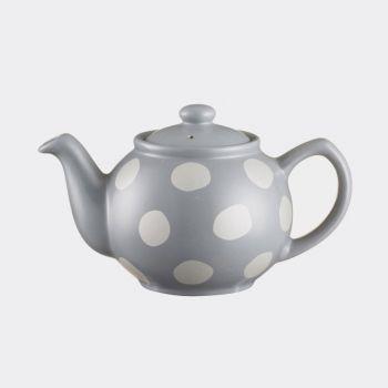 Price & Kensington 2-cups teapot with dots mat silver 450ml (per 3pcs)
