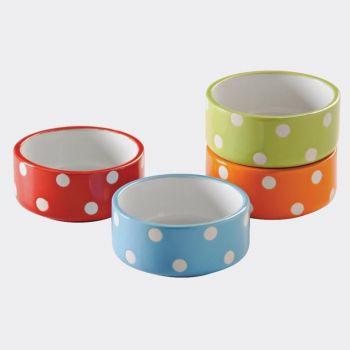 Mason Cash Brights 4 assorted pet bowls ø 8cm (per 12pcs)
