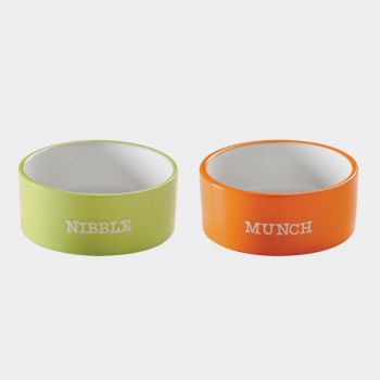 Mason Cash Brights assorted pet bowls Munch and Nibble ø 12cm (per 4pcs)