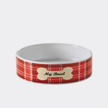 Mason Cash Tartan pet bowl ø 14cm (per 6pcs)