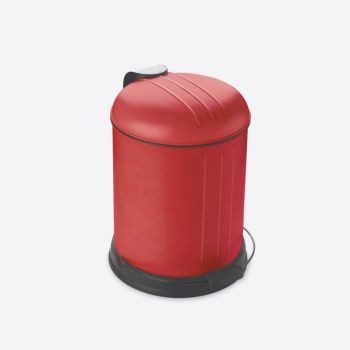 Rixx pedal bin with soft closing cover mat red 5L